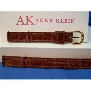 Anne Klein Watch Band # 10/1441 ladies 10mm Brn w/2pr Pins