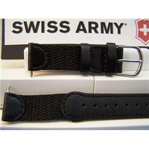 Swiss Army watch band Original 2000 ladies nylon/leather black