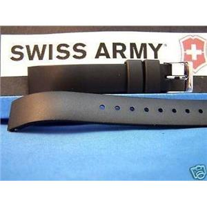 Swiss Army Watch Band Alliance Squared End ladies black Resin