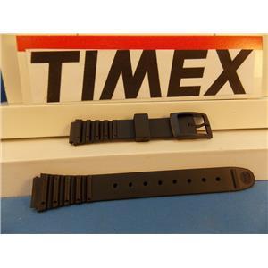 Timex Watch Band Black Max Ladies 12mm Wide Black Resin Strap. 16mm at Shoulder