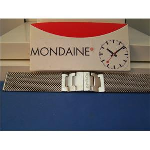 Mondaine Watch Bracelet 18mm All Stainless Steel. Mesh w/ Deployment buckle