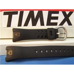 Timex Watch Band T53151 Caseback# 854  black Resin Gold Ironman Icon 30 Lap Strap
