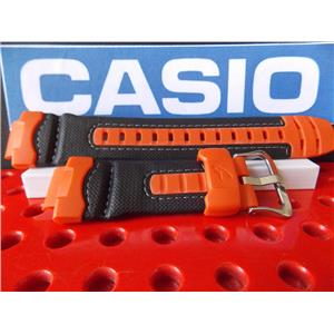 Casio Watch Band G-312 RL-4 Black & Orange Nylon / Resin G-Shock Strap. Watchband