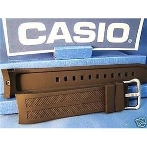 Casio Watch Band AMW-706 and AMW-704. Black Resin w/Pin