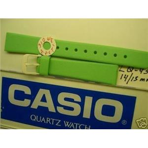 Casio watch band LQ-43 14/15mm bright sea  green strap