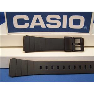 Casio Watch Band AQ-80, EXW-50. Casio Black Resin Strap For Most Any 20mm Watch