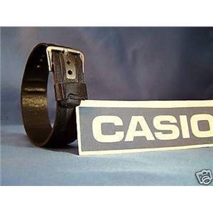 Casio Watch Band G-2310B-1. 23mm One Piece black/SilverLoop Thru Strap