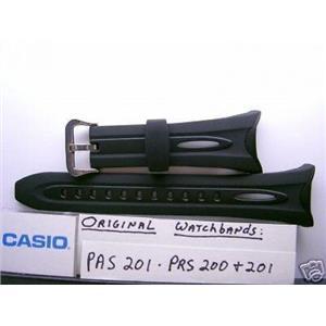 Casio watch band PAS-201 PRS-200 PRS-201 Black Resin Strap