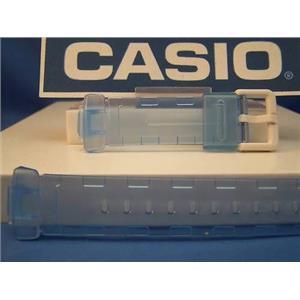 Casio watch band BG-169 A-2V. Baby G C-thru lite blue resin strap.Watchband
