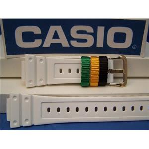 Casio Watch Band DW-6900 R-7 White G-Shock Strap w/Multi-Colored Keepers