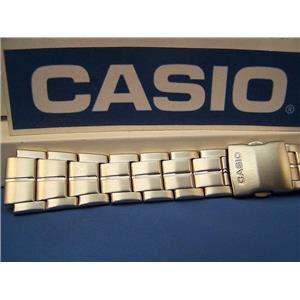 Casio Watch Band AQF-100 WD Steel Bracelet Silver Tone For Tide Graph Watch