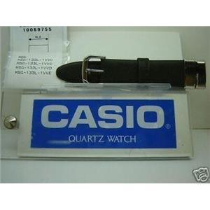 Casio watch band MSG-133 L Black  Strap w/Steel Attachments
