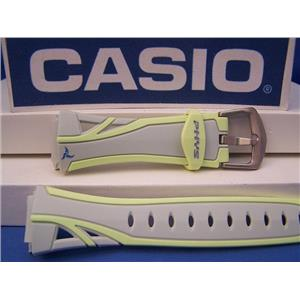 Casio Watch Band STR-200 -7B Gray/Yellow PHYS Watchband - Strap