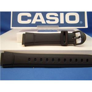 Casio watch band AQ-140. 16mm Black Resin Strap