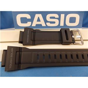 Casio Watch Band G-9300 Steel Buckle Tough Solar Twin Sensor Black Rubber Strap