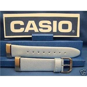 Casio Watch Band MSG-133 L-2 Baby-G  Lite blue Leather Steel End Caps