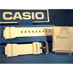 Casio Watch Band DW-6900 CS-7.G-Shock white Rub Strap. AND GB-6900,GB-5600,GW-6900