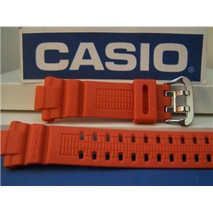 Casio Watch Band GW-3000 M-4 G-Shock Orange Resin Strap w/Steel Dbl Nib buckle