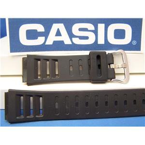Casio Watch Band DW-220, DW-250. Black Resin Watchband. Depth Guage Watch Strap