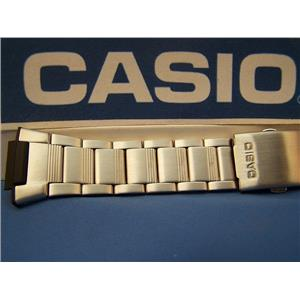 Casio Watch Band AE-2000, W-S220 Steel Bracelet SilverTone W/Push Button buckle
