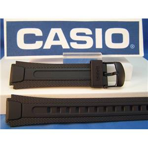 Casio Watch Band AW-81 Black Resin Strap. Original Watchband
