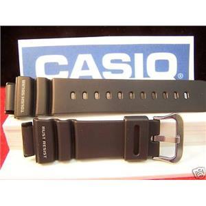 Casio Watch Band GW-9100 Tough Solar Gulf Man black Resin strap / watchband