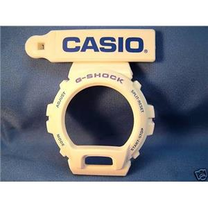 Casio Watch Parts DW-6900 CS-7 White Bezel blue Letters
