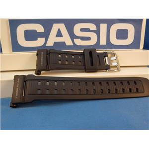 Casio Watch Band G-9010 and GW-9010 Mud Resist Tough Solar Black Resin Strap