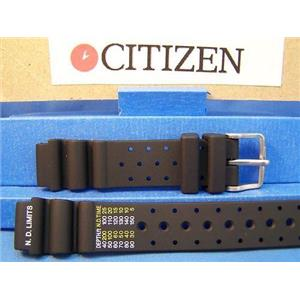 Citizen Watch Band Lady Divers Black Resin Strap 15mm. Watchband