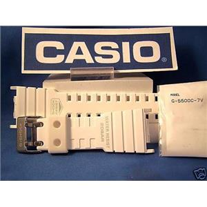 Casio watch band G-5500 C-7. G-shock white Resin strap.