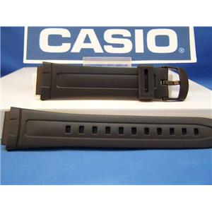 Casio watch band AW-80 and AW-82 18mm Black Resin Strap