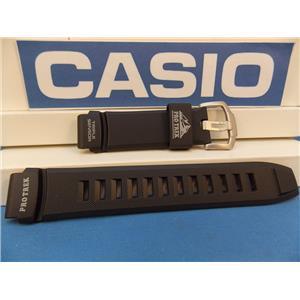 Casio Watch Band PRW-2000, PRG-200 Black Rubber Pro Trek Triple Sensor Strap