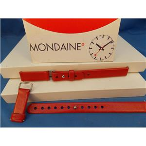 Mondaine Swiss Railways Watch Band Ladies 12mm Red.  Unique Fold Adjust Strap