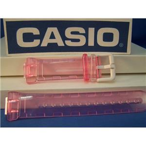 Casio Watch Band BG-169 WH-4. Baby-G. Clear Pink Resin Strap.Watchband
