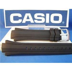 Casio watch band EF-514 Edifice  Black Resin w/pins