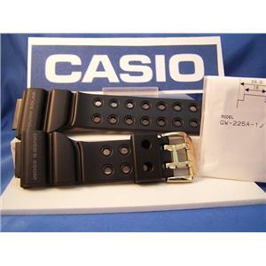 Casio Watch Band GW-225 Frogman Black Resin w/ Gold Tone buckle