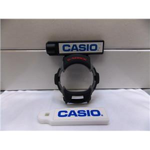 Casio Watch Parts G-7600 Inner Bezel / Shell Black/Gray W/ Red G-Shock letters