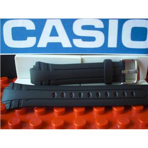 Casio Watch Band MTR-302 Black Resin Strap w/ Steel buckle and Attaching Pins
