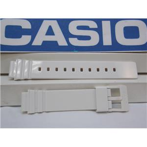 Casio Watch Band LRW-200 White Polished Resin. 14mm Ladies White Sport Strap