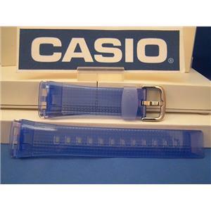 Casio Watch Band BG-184 -2 Baby G blue Resin Strap.Watchband