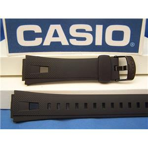 Casio Watch Band AQ-190 W-1. Black Resin Casio Strap Watchband