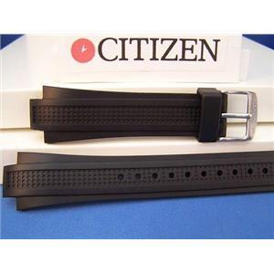 Citizen Watch Band BL5334 -04E For Perpetual Calendar Model. Black Rubber Strap