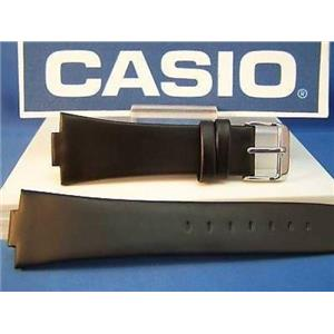 Casio Watch Band EF-306 L Edifice. Black Leather Strap Includes Spring Bars