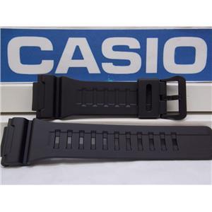 Casio Watch Band AQ-S810 & W-735 Black Rubber Strap for Tough Solar Illuminator