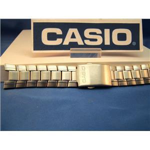 Casio Watch Band. EF-305 D Edifice Steel/SilverTone Push Button Bracelet w/Pins