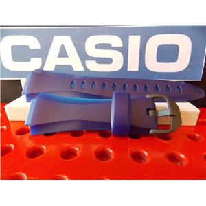 Casio Watch Band W-733 H-1C Two Tone blue Resin Illuminator Watchband Strap