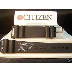 Citizen Watch Band Promaster Windsurfer 20mm Black Rubber Strap. Watchband