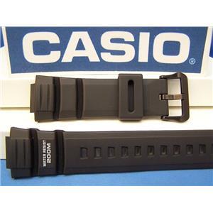 Casio Watch Band WV-200 A, AE-2000 W. Waveceptor Illuminator Black Rubber Strap