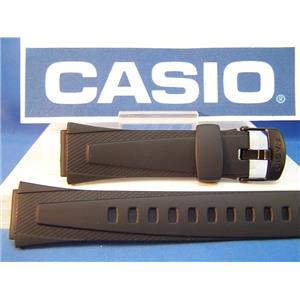 Casio watch band W-752, W-755, W-753.  Casio Lap Memory 50 Black Resin Strap