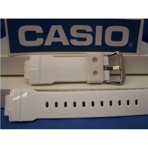 Casio Watch Band AW-591 SC-7 Shiny White Resin Strap For Digital Analog G-Shock